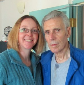 Dad and I at the assisted living facility, March 2011.