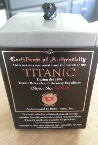 A Titanic souvenir.