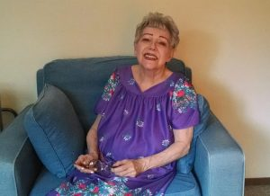 My mom, who was a wonderful caregiver for my father who had Alzheimer's.