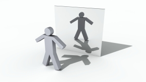 mirror person