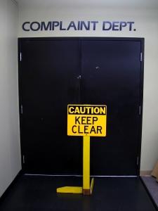 Ironic door sign