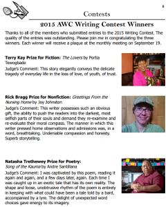 AWC 2015 contest winners