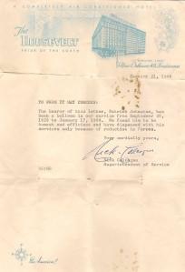 Dad Roosevelt Hotel letter
