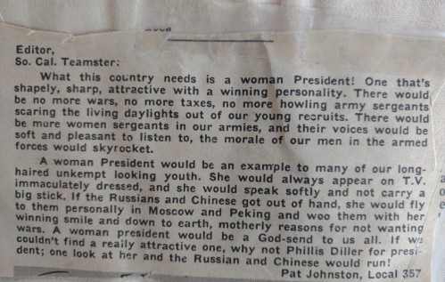Dad woman president letter